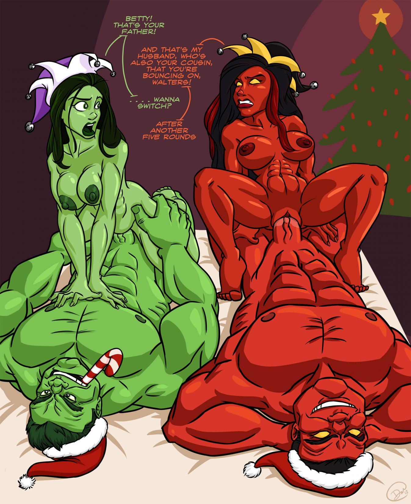 hulk and she kiss hulk Lilo and stitch double dip