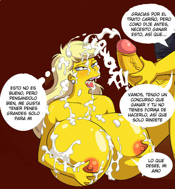 the naked marge simpsons from April o neil