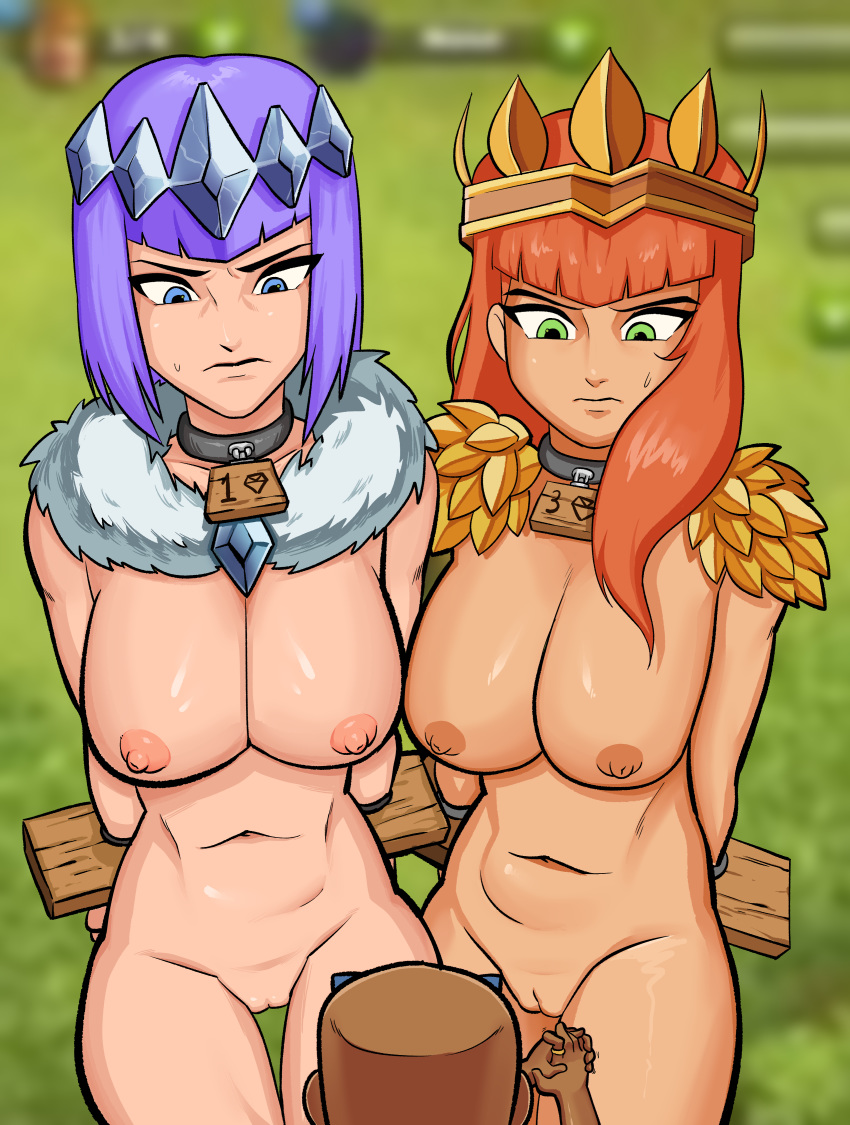 naked troops clash clans of Princess peach naked boobs exposed